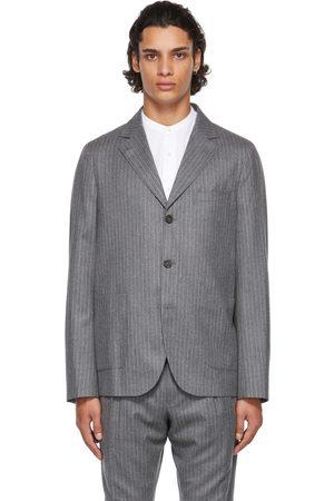 Officine Générale Men Blazers - Grey Wool Striped Armie Blazer