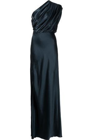 Michelle Mason Women Asymmetrical Dresses - Silk asymmetrical gathered gown