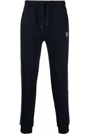 Karl Lagerfeld Logo-tape cotton track trousers