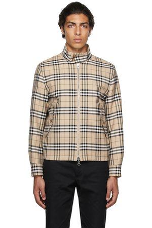 Burberry Reversible Beige Vintage Check Harrington Jacket