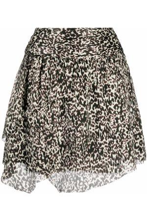 IRO Animal print silk mini skirt - Neutrals