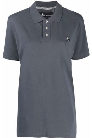Moose Knuckles Embroidered-logo cotton polo shirt - Grey