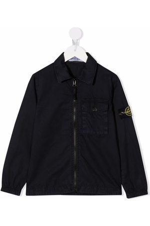 Stone Island Patch-embellished denim jacket