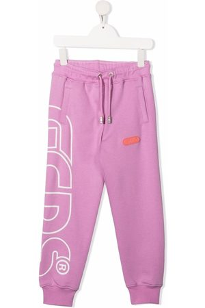 GCDS Girls Sweatpants - Logo print track pants