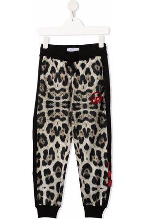 John Richmond Junior Girls Sweatpants - Leopard-print track pants - Neutrals