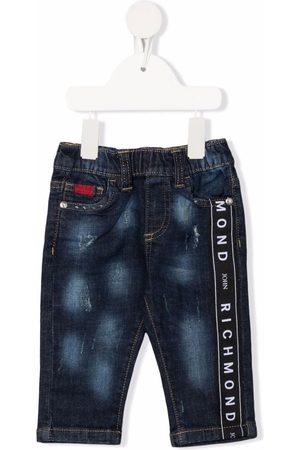 John Richmond Junior Slim - Logo tape slim-fit jeans