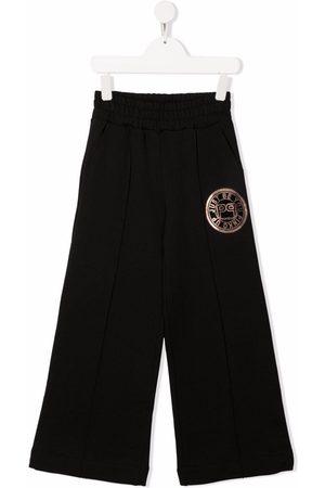 Pinko Kids Logo-print wide-leg sweatpants