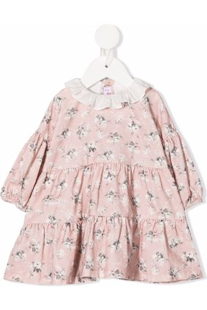 Il gufo Baby Printed Dresses - Floral-print long-sleeved dress