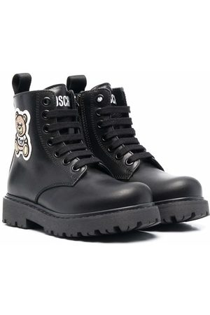 Moschino Toy-Bear patch boots