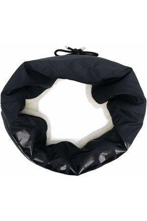 Alexander McQueen Reversible logo-print shearling scarf