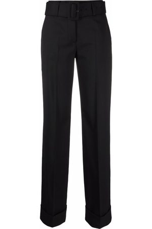 Lardini Women Straight Leg Pants - Belted-waist trousers