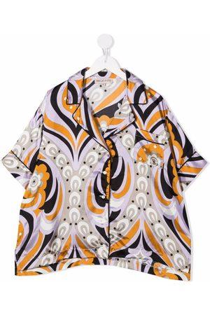 Emilio Pucci Junior TEEN abstract-print short-sleeved shirt