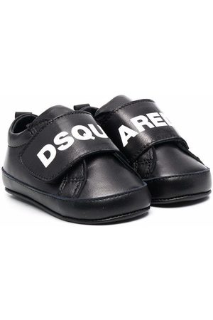 Dsquared2 Kids Logo-print leather trainers