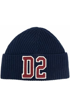 Dsquared2 Kids Logo embroidered beanie hat