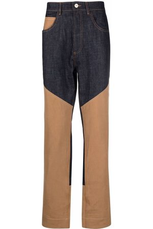 Wales Bonner Two-tone panel trousers