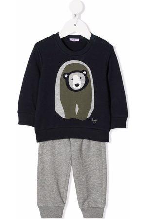 Il Gufo Bear-print cotton tracksuit set