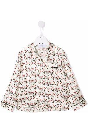 PAADE MODE Floral button-down silk shirt