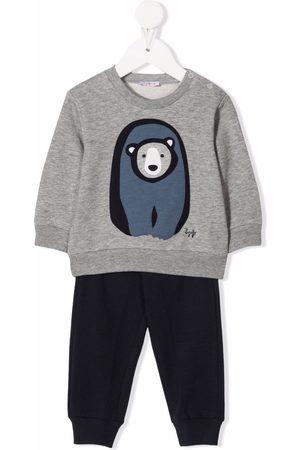 Il Gufo Sets - Bear-print cotton tracksuit set