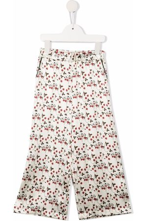 PAADE MODE Floral-print satin pajama trousers
