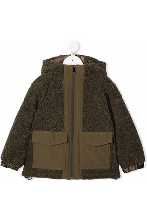 Il Gufo Faux-shearling hooded jacket