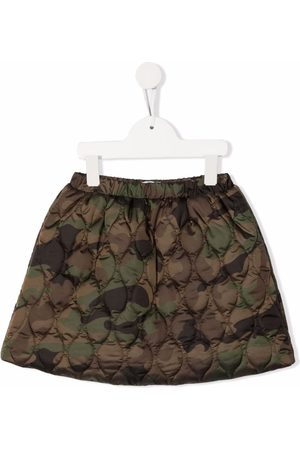 Il Gufo Camouflage quilted miniskirt