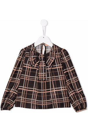 Elisabetta Franchi La Mia Bambina Girls Blouses - Logo-print bow-detailed blouse