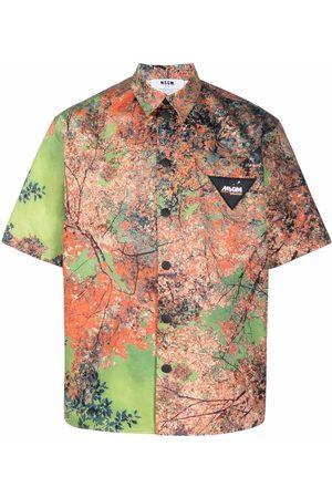 Msgm Men Shirts - Graphic-print shirt