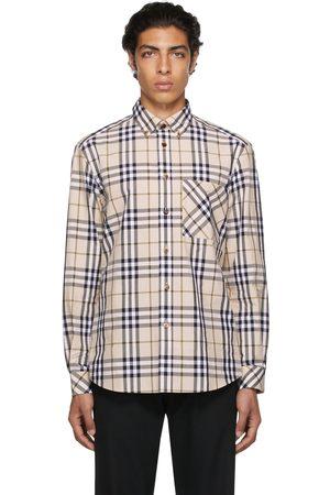 Burberry Beige Poplin Check Shirt