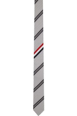 Thom Browne Men Neckties - Grey Outline Stripe Classic Tie