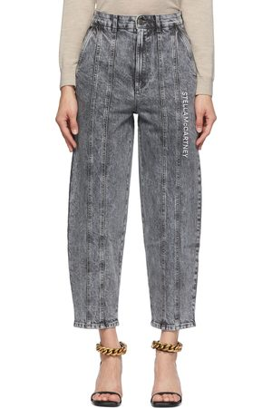Stella McCartney Women Jeans - Grey Logo Embroidered Jeans