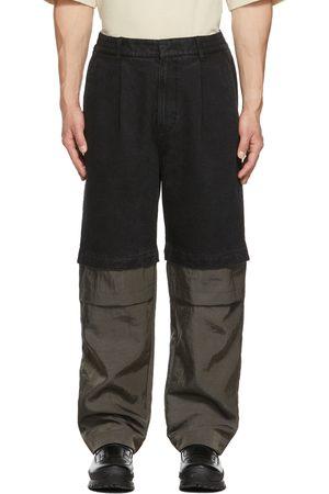 JERIH Men Jeans - Black Detachable Jeans