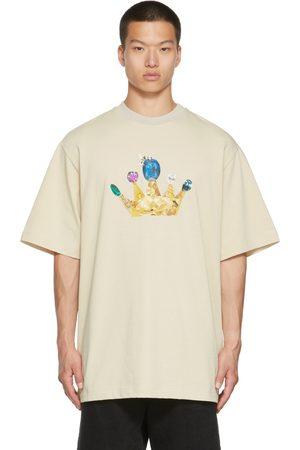 JERIH Beige Crown T-Shirt