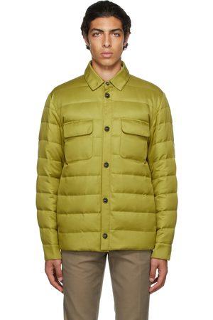 Loro Piana Men Puffer Jackets - Green Down Quilted Puffer Jacket