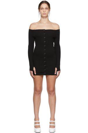 KIMHĒKIM Off-The-Shoulder Rib Mini Dress