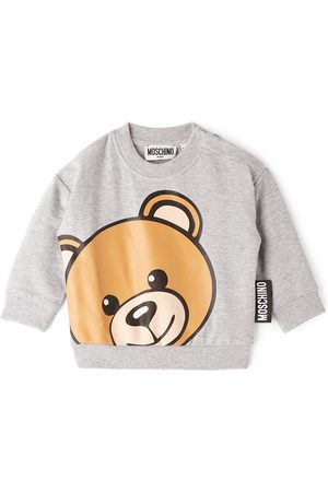 Moschino Baby Grey Teddy Bear Sweatshirt