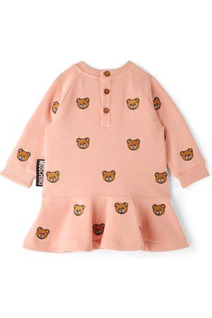 Moschino Baby Sweatshirts - Baby Pink Fleece Teddy Bear Dress