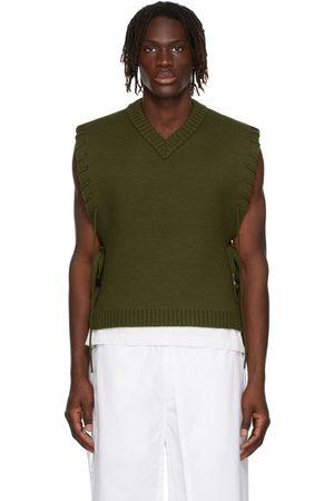 Craig Green Green Laced V-Neck Vest