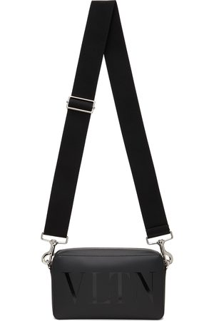 VALENTINO GARAVANI Men Luggage - Black 'VLTN' Crossbody Bag