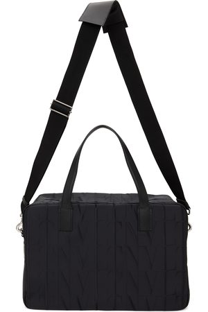 VALENTINO GARAVANI Black Nylon 'VLTN' Duffle Bag