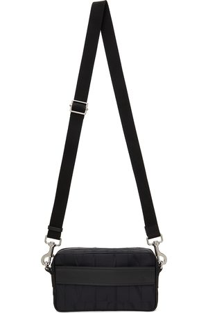 VALENTINO GARAVANI Men Luggage - Black Nylon 'VLTN' Bag