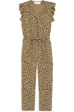 Bella Dahl Little Girl's & Girl's Sleeveless Animal Print Jumpsuit