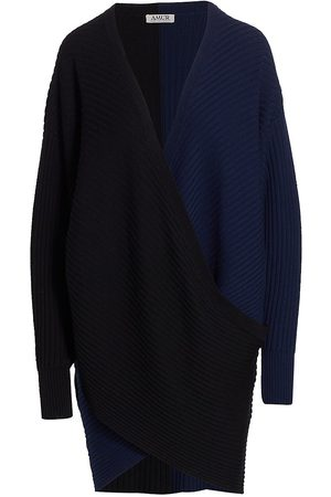 AMUR Samira Two-Tone Sweaterdress