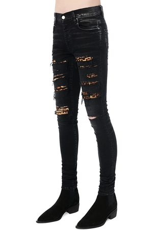 AMIRI Leopard Thrasher Five-Pocket Jeans