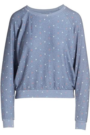 SOL ANGELES Hearts Hacci Pullover