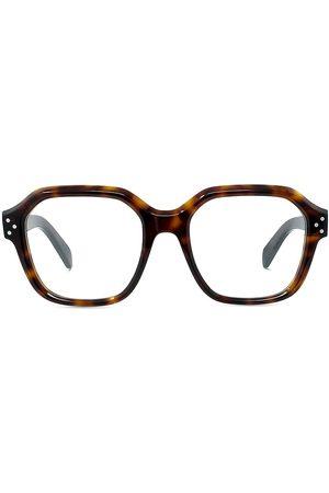 Céline 52MM Square Havana Eyeglasses