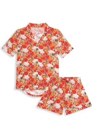 Posh Peanut Paulina 2-Piece Short-Sleeve Shirt And Shorts Pajama Set