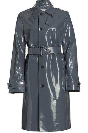 Bottega Veneta High Shine Leather Coat