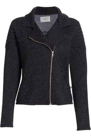 SOL ANGELES Speckled Knit Moto Jacket