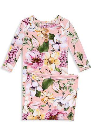 Posh Peanut Baby Girl's Margot Wood Button Nightgown