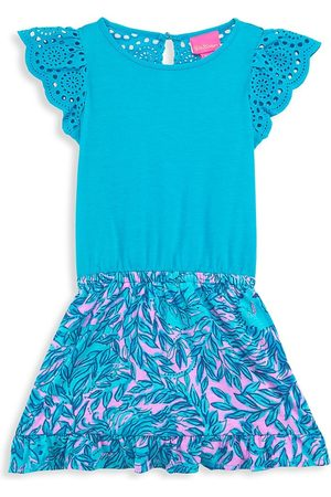 Lilly Pulitzer Little Girl's & Girl's Tania Eyelet Ruffle Romper